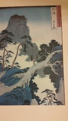 Vintage Framed Signed Chinese Or Japanese Art Work Watercolor/print??