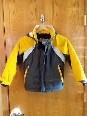 Boy's Columbia Winter Coat Jacket Size Youth  8 Gray and yellow