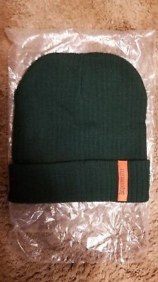 Jagermeister Knit Hat - Beanie - Winter Hat Green With Orange Logo - New!