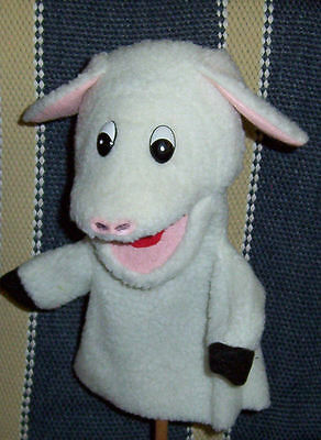 "All White Woolly Lamb Sheep Puppet 13 "" Tall-Ministry,Teachers, Animal Husbandry"