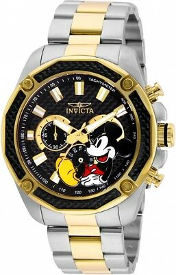 Invicta Disney Limited Edition Chronograph Black Dial Two-Tone Men's Watch 27359