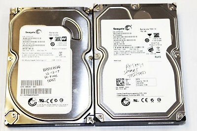 "Lot of 2 - Bad/Parts/Repair Seagate 750gb 500gb SATA 3.5"" Desktop Hard Drive"