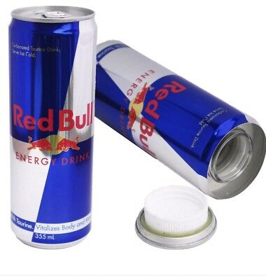 Red Bull 16oz Soda Can Diversion Safe Stash Secret Container Hidden Personal