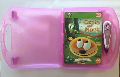 Leap Frog TAG Reader Plastic CARRYING & STORAGE CASE w/Ozzie and Mack book