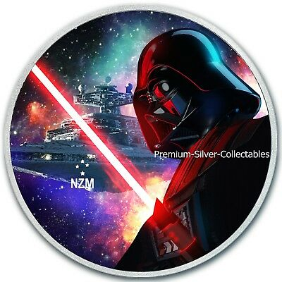 2018 Niue Star Wars Series Darth Vader Light Saber - 1 Ounce Pure Silver Coin!!!
