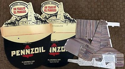 Pennzsoil salutes a 100 Year of Oil Progress - 1959 - with a Drake Well model