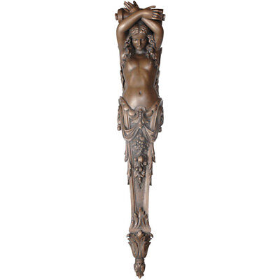 Vintage Style Gothic Grand Lady Pillaster,Architectural Decor,22'' x 91.5''Tall.
