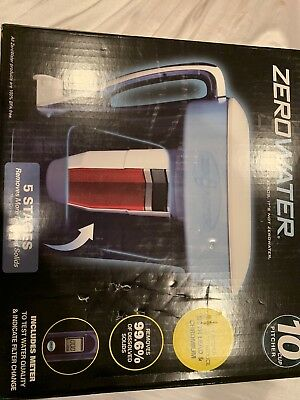 Zerowater 10 Cup Pitcher with Water Quality Meter Filter Filters