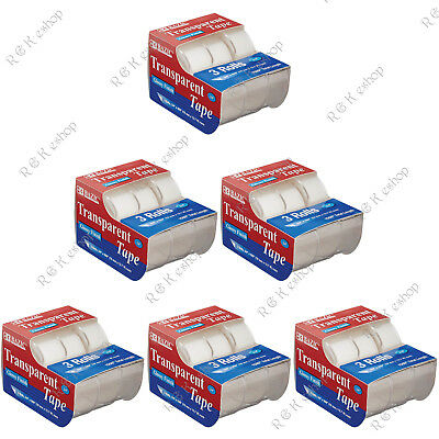 """BAZIC 3/4"""" X 500"""" Transparent Tape (3/Pack) of 6 Correct"""