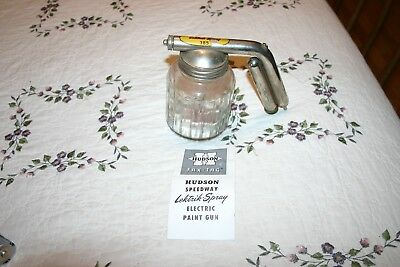 Vintage HUDSON Glass 385 Lektrik Spray Electric Paint Sprayer