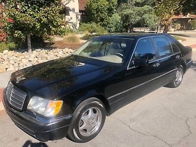 1997 Mercedes-Benz S-Class LUXURY S320 320 BLACK SOUTHERN CALIFORNIA GARAGE KEPT LOW MILEAGE CORROSION FREE S500 S600