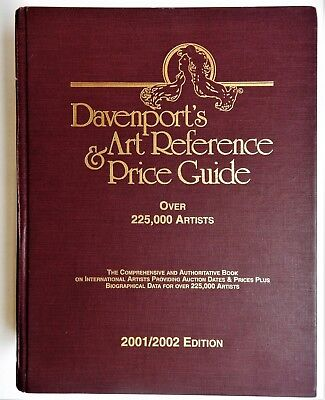 Davenports Art Reference & Price Guide 2001-2002 HC artists value sales initials