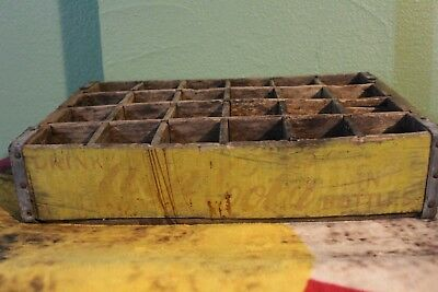 "Vintage Crate, 1960s Wooden ""Have a Coke"" Coca- Cola Soda Crate, Yellow"