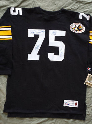 Steel Curtain Autographed Pittsburgh Steelers Throwback