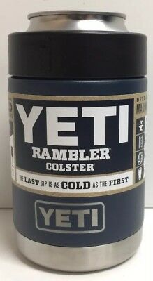(New) YETI Rambler Colster Stainless Steel Beverage Navy Blue