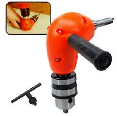 Right Angle Adaptor Metal Gear 90 Degree Attachment Power Drill Home Repair