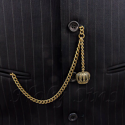 Brand New Bronze Colour Albert Pocket Watch Fob Chain With Crown