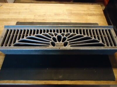 """Vintage Superior Fireplace Grill Grates 25"""" 5 3/4""""x 6""""Wall Ceiling Vent Old Vtg"""