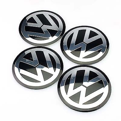 X4 Vw Centre Hub Cap Sticker 65Mm / Gofi Scirocco Passat Polo