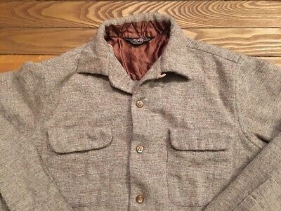 Vintage 1950's Woolrich Loop Collar Shirt Size S/M Made in USA Rare!