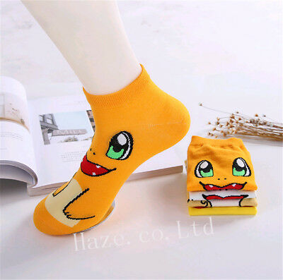 1Pair 3D Pokemon Pikachu Character Sock