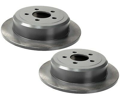 For Dodge Jeep Pair Set of 2 Rear Brake Disc Rotors Solid 316mm 5 Lugs Brembo