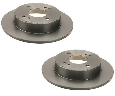 Pair Set of 2 Solid Rear Disc Brake Rotors Brembo for Infiniti G20 Nissan Sentra