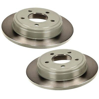 For Chrysler Dodge Eagle Pair Set of 2 Rear Disc Rotors Solid 5 Lugs Brembo
