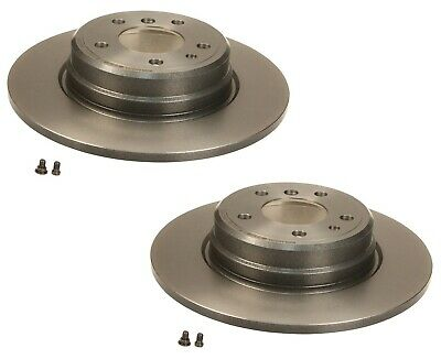 NEW For BMW E38 E31 Pair Set of 2 Rear Brake Rotors Brembo Solid 324x12mm 5 Lugs