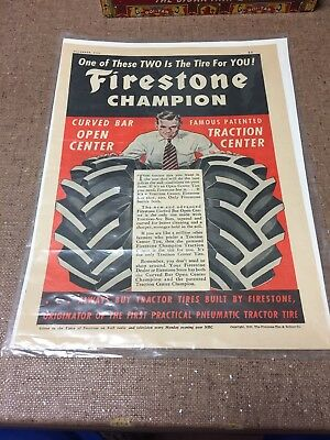 1950 Firestone Chamion Tractor Tires Advertisement