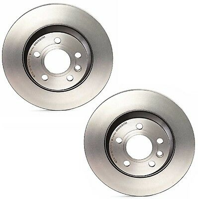 For VW EuroVan 00-03 Set of 2 Rear 294mm Solid Coated Disc Brake Rotors Brembo