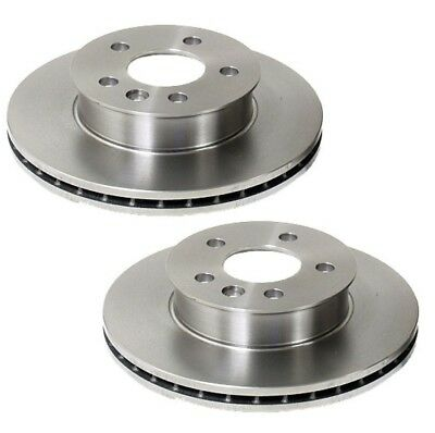 For VW Euroven Pair Set of 2 Front 280x24mm 5 Lugs Vented Disc Brake Rotors