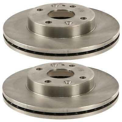 Pair Set of 2 Front 235mm Vented Disc Brake Rotors Brembo for Ford Aspire Kia