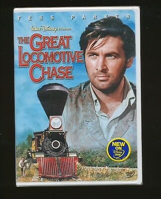 53 - The Great Locomotive Chase Disney Movie, Fess Parker, Classic Movie Dvd