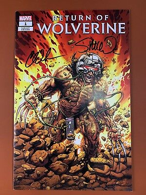 Return of Wolverine #1 2018 Marvel Signed Charles Soule Steve McNiven Variant F