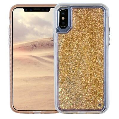 Girls Bling Glitter Sparkle Liquid Quicksand Case Cover For iPhone XS MAX 8 Plus