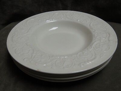 Vintage 1950's Wedgwood China Patrician Cream Ware Soup Bowl Lot of 4 pieces