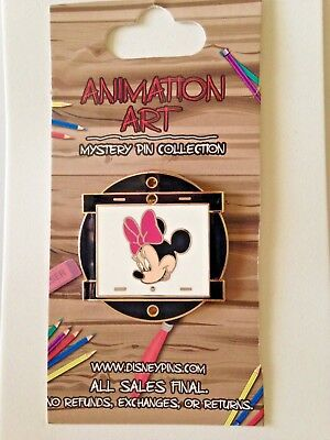 Disney Animation Art Mystery PIN Collection - Minnie Mouse Pin ON ORIGINAL CARD