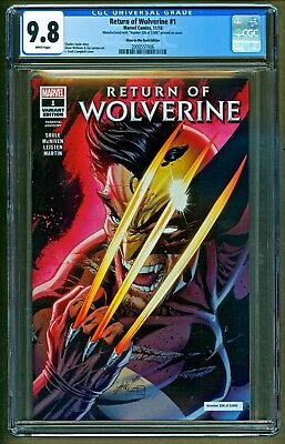 Return of Wolverine #1 2018 NYCC Glow in Dark J Scott Campbell Variant CGC 9.8