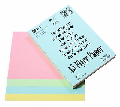 Quill A5 80gsm Pastel Colours Paper 240 Pack 90090