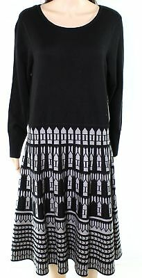 Eliza J Plus Size 1x Grey Fit Flare Sweater Dress Nwt 148