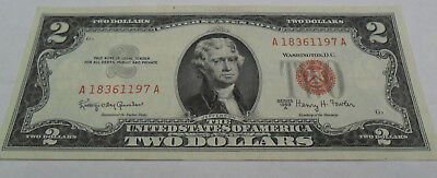 1963A Two Dollar $2 Bill   SDS  **FREE SHIPPING**