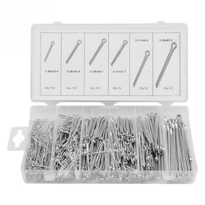 555pc Cotter Pin Assortment Kit Case Stainless Steel Clip Key Large Pro Shop Set