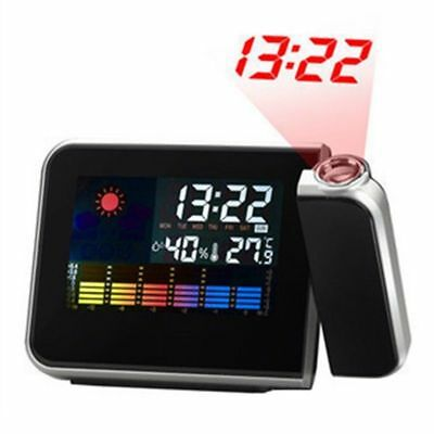 Projection Creative Trend Hot Snooze Weather Thermometer LCD Color Display LED