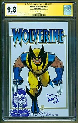 Return of Wolverine #1 Magneto Original Art Sketch Signed Arthur Adams CGC 9.8