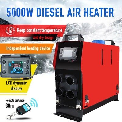 5000W Air diesel Heater 4 Holes LCD Monitor 5KW 12V For Trucks Boats Bus UK*