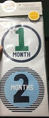 Carter's Baby First Year Photo Belly Stickers Monthly Milestones 1-12 Month