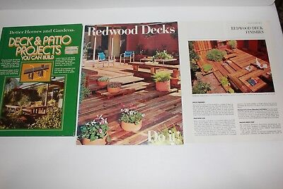 Vintage Better Homes & Gardens Deck & Patio Projects book California redwoods