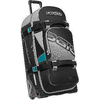 NEW Ogio Rig 9800 Wheeled Gear Bag Teal / Black from Moto Heaven