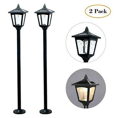 "2Pack 36"" Solar Post Lamp Lights Outdoor Vintage Street Lights for Lawn, Pathway"